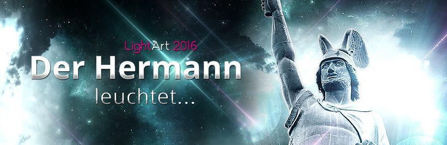 Der Hermann leuchtet